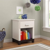 Cosco Leni Night Stand, White and Coffee House Plank