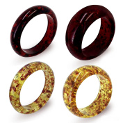 Women's Faux Red and Yellow Amber Bangle Set of 4 Available in Sizes 19cm .
