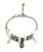 Athena Jewellery Murano Glass Bead Love Mom Snake Chain Bracelet