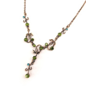 Necklace 'french touch' 'Paradisiaque' green.