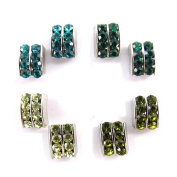 4 pairs of loops 'Sissi' turquoise ().
