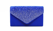 LuckyZ Shining Crystal Satin Bridal Diamante Ladies Evening Clutch Bag Party Prom Envelope