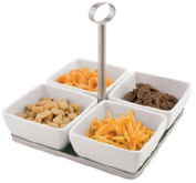 Aps Paderno World Cuisine 4 Melamine Bowl and Tray Set with Handle