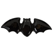 Halloween Collection, Bat Sectioned Serving Dish, Black