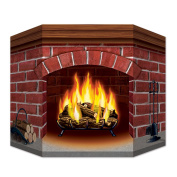 Beistle Brick Fireplace Stand-Up, 7.6cm by 60cm , Multicolor