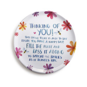 DEMDACO Thinking of You Melamine Giving Plate, Multicolor
