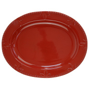 Signature Housewares Sorrento Collection Oval Platter 36cm , Ruby