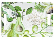 Michel Design Works SWTM259 Avocado Melamine Serving Tray, Medium, Green/White