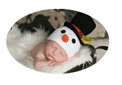 Baby Box Newborn photography Outfit Props,Snowman Hat