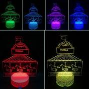 3D Night Lamp Carousel