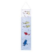 Trend Lab Dr. Seuss One Fish, Two Fish Canvas Growth Chart, Blue/Green/Yellow/Red/White