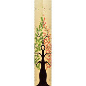 Growth Chart Art | Tree of Life Wood Height Chart Pair | Baby Shower Gift | Measure Siblings, Twins or Grandkids | NB & FB Mixed