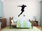 Silhouette Soccer Ball - Mural Wall Decal Sticker For Home Room Door Car Laptop