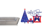 Merry Christmas Chimney Gifts - Mural Wall Decal Sticker For Home Room Door Car Laptop