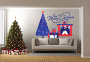 Christmas Gift Tree Chimney - Mural Wall Decal Sticker For Home Room Door Car Laptop