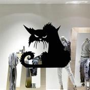 SPOOKY BLACK CAT SCARY CAR/BIKE/WINDOW/WALL/LAPTOP HALLOWEEN VINYL DECAL STICKER
