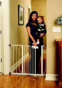 BABY GATE WHITE colour PERFECT FOR DOORWAYS AND STAIRCASES FITE SPACES BETWEEN 70cm AND 100cm WIDE