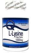 L-Lysine Free Form 1000mg 100 Capsules ^GLS