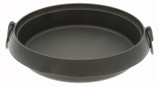 Iwachu Traditional Japanese Cast Iron Sukiyaki Pan, Round, Black