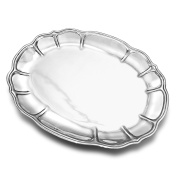 Wilton Armetale Stafford Large Oval Serving Tray, 44cm -by-38cm