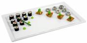 Aps Paderno World Cuisine White Melamine Platter, 1/1 Hotel Pan Size