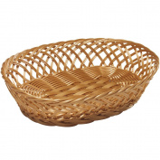 Kesper 17844 Fruit/Bread 31cm x 23cm x 8.5cm Basket, Brown