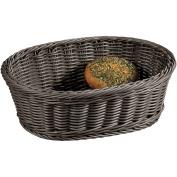 Kesper 19826 Fruit/Bread oval Basket, 29cm x 23cm x 9.5cm , Grey