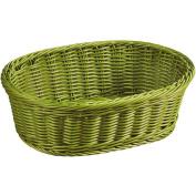 Kesper 19825 Fruit/Bread oval Basket, 29cm x 23cm x 9.5cm , Olive