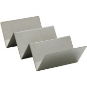 Winco TCHS-23 2-3 Compartments Stainless Steel Taco Holder,Set of 3
