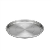 Kraftware Brushed 30cm Stainless Steel Round Tray