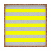 DENY Designs Holli Zollinger Bright Stripe Indoor/Outdoor Square Tray, 12 x 12