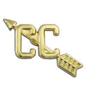 Cross Country Gold Chenille 2.5cm Lapel Pin