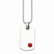 Jewellery Best Seller Stainless Steel Small Dog Tag Medical Pendant Necklace