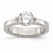 Top 10 Jewellery Gift Stainless Steel Polished CZ Ring