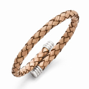 Top 10 Jewellery Gift Stainless Steel Polished Adjustable Tan Woven Leather Bracelet