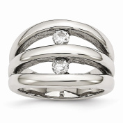 Best Birthday Gift Stainless Steel Polished CZ Ring