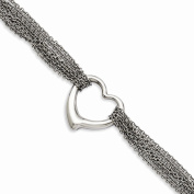 Jewellery Best Seller Stainless Steel Multi-row Chain with Heart Toggle Bracelet
