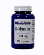 Pure D-Mannose 500mg 180 Capsules - 6 month Supply - Best Value D-Mannose Supplement