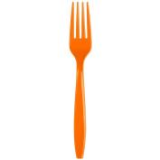 Creative Converting 010613B 18cm Sunkissed Orange Disposable Plastic Fork - 600/Case