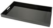 Kotobuki Rectangular Lacquer Serving Tray, 48cm , Black