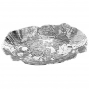 Wendell August Forge Autumn Baroque Oval Tray, Small, Silver