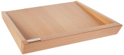 Artelegno Solid Beech Wood Serving Tray, Luxurious Italian Roma Collection by Master Craftsmen, Eco-friendly, Natural Finish, Square