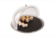 Aps Paderno World Cuisine Dome Display with Slate Tray and Stainless Steel Base