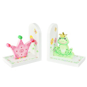 Fantasy Fields Princess & Frog Kids Wooden Set of Bookends