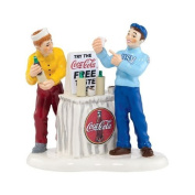 COCA COLA COKE IS IT Boys Christmas Snow Village Dept 56 Figurine by Department 56
