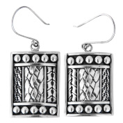 Handcrafted Solid 925 Sterling Silver French Wires Earrings