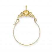 Yellow-gold 14k Polished Heart Charm Holder