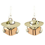 Reading Book Lady Earrings Far Fetched Mima Oly Librarian Book Club Teacher