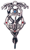Staff of Myrddin for Second Sight Celtic Sorcery Amulet Talisman Pendant