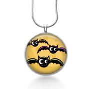 Halloween bats jewellery, Goth Jewellery, Charm Necklace, steampunk